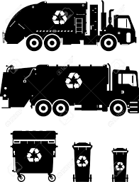 100 Videos Of Trash Trucks Silhouette Illustration Garbage And Dumpsters Isolated