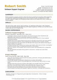 Software Support Engineer Resume Example