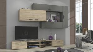 wohnwand jive anbauwand wohnzimmer sonoma eiche sägerau grau
