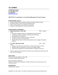 Resume Examples For A Bank Teller Position Elegant Sample No Experience Umecareer