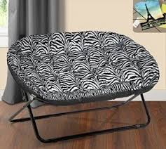 Oversized Saucer Chair Zebra Print by Comfy Chairs Foter