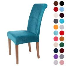 Colorxy Velvet Spandex Fabric Stretch Dining Room Chair Slipcovers Home  Decor Set Of 4, Peacock Green Living Room With Ding Table Chairs Sofa And Decorative Cement Wonderful Casual Ding Room Decorating Ideas Set Photos Atemraubend Black Glass Extending Table 6 Chairs Grey Ideas The Decoration Of Chair Covers Amaza Design Beautiful Shell Chandelier Cvention Toronto Transitional Kitchen Antique Knowwherecoffee Hubsch 4 Wall Oak Metal Height Red Leather Reupholstered How To Reupholster A 51 Lcious Luxury Rooms Plus Tips And Accsories