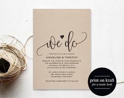 We Do Wedding Invitation Template Rustic Kraft