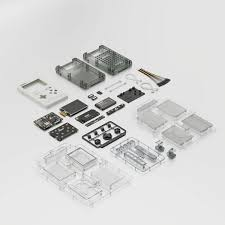 GameShell Open Source Portable Game Console Modular DIY Kit Ideal For Indie Game Developers Hackers And Retro Games Collectors White