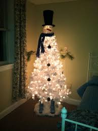 Snowman Christmas Tree Artist Responsible For This Cute Creation Cheryl Barnett Gunn White From Walmart 39 Dollars Head Cracker Barrel Currently