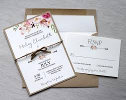 Modern Rustic Chic Wedding Invitation The Perfect Mix Of Boho And Is Printed On Off White Card Stock Paper Then Layered
