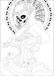 Coloring Page Inspired By The Mexican Celebration Dia De Los Muertos