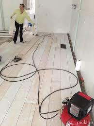 Dap Floor Leveler Home Depot by Wide Plank Farmhouse Floor Tutorial Using Plywood Amazing