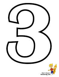 Beautiful Number 3 Coloring Page 47 For Free Kids With