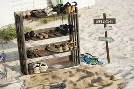 Beach Wedding Shoe Station Photo By Aislinnkate