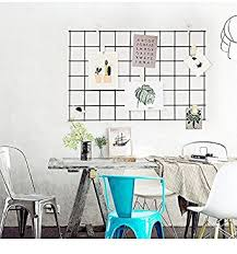3 Pcs Chic Wall Wire Grid Panel Mesh Memo Bulletin Board Storage Cube Closet Garage Organizer
