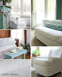 Cindy Crawford Denim Sofa Cover by Washable Slipcover Fabrics The Slipcover Maker