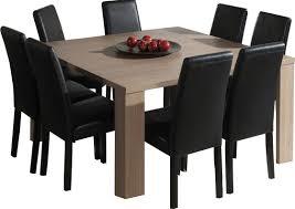 table salle à manger carrée table basse blanc et chene trendsetter