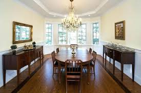 Full Size Of Bay Window Dining Room Expandable Table Traditional With Buffet Chandelier Image By Carter