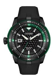 99 Eco Golf Citizen Mens Drive Black Rubber Strap Watch 47mm