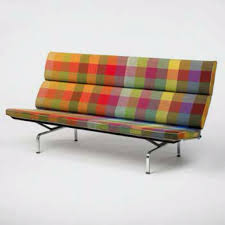 Eames Compact Sofa Herman Miller by Charles U0026 Ray Eames Sofa With Alexander Girard Fabric 1950s