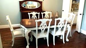 Attractive Painting Dining Room Chairs Refinishing With Paint Brilliant Refinish Table Chalk And Pa