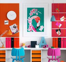 bureau coloré inspiration bureau pour la rentrée cocon de décoration le
