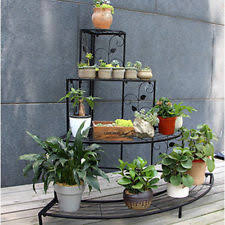 4 Tier Large Metal Home Garden Plant Display Stand Shelf Flower Pot Rack Bronze