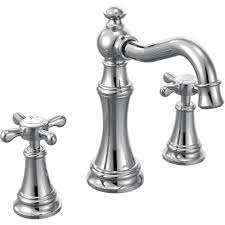 Moen Darcy Faucet Specs by Moen Ts42114 Weymouth Chrome Two Handle Widespread Bathroom