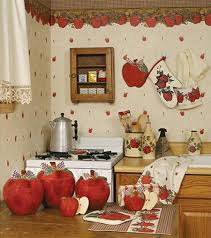 Kitchen Theme Decor Sets Themes Walmart Red Apple Ceramic Canisters With Ribbon Themed