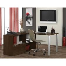 Bestar L Shaped Desk by Bestar Contempo L Shaped Desk Free Shipping Today Overstock