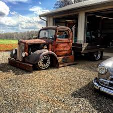 100 Rat Rod Semi Truck Deep Dish Dually Wheels Flatbed Smoke Stack And Slammed Big Truck