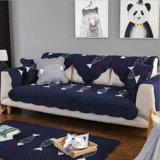 100 Couches Images 1pc Furniture Covers For Cotton Greyblue Sofa Slipcover