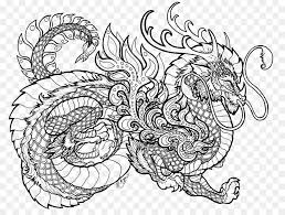 Dragons Coloring Book Colouring Pages Chinese Dragon