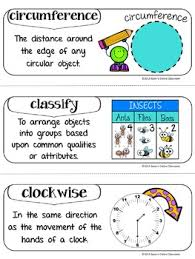 Math Word Wall Vocabulary Interactive Notebook Inserts 300 Words