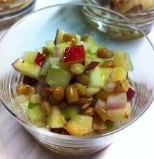 cuisine lentille salade de lentilles aux pommes geneviève o gleman dt p