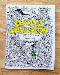 Coloring Book Adult Doodle Invasion Kerby Rosanes 15