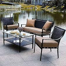 Amazon Braddock 4 Piece Patio Furniture Conversation Set