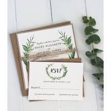 Rustic Wedding Invitation Modern Greenery Kraft Love Of Creating Design Co