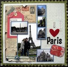 papercraft scrapbook layout Travel Romantic Paris scrapbook