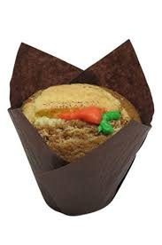 Decony Brown Tulip Cupcake Liners Standard Size Appx 100 Ct