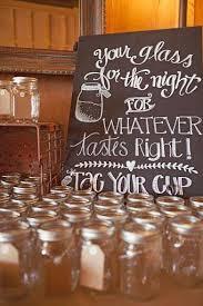 Country Wedding Dresses Party Mason Jar Drinks