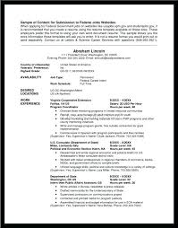 Federal Job Resume Examples Example Samples Unique How To Write A For New