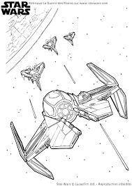 Coloriage Star Wars Combat Vaisseaux Spatiaux