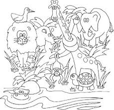 Superb Jungle Scene Coloring Pages According Luxurious Article