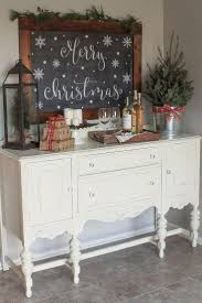 Cozy Christmas Kitchen Wine Nook BuffetChristmas Dining RoomsDecorating Rustic Sideboard