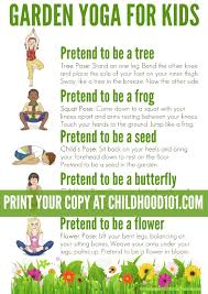 Garden Yoga Printable Poster Take A Walk Through Nature With This Themed Routine Kids Stories
