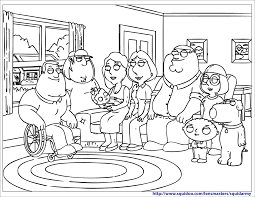 Free Pages On Art Cheerful Coloring Of Families Great Family Guy For Kids