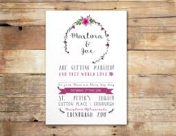 Rustic Chic Floral Wedding Invitation Little Ivory Weddings
