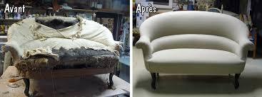 tapisser un canapé restauration d un canapé garniture mousse tapissier décorateur