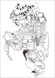 Winnie The Pooh Eeyore Tigger Piglet Bath Coloring Pages Colouring Adult Detailed Advanced Printable Kleuren Voor