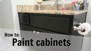Rustoleum Cabinet Transformations Colors Youtube by Diy How To Paint Cabinets Guest Bathroom Cabinet