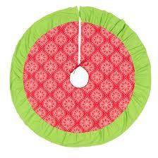 Noel Poinsettia Medallion Christmas Tree Skirt 1 2 Week Production Time