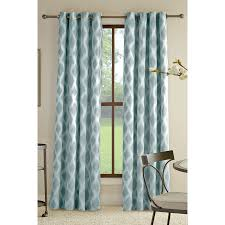 Green Striped Curtain Panels by Shop Allen Roth Bookner 84 In Blue Cotton Grommet Light