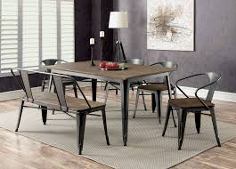 Dining Room Table Chair & Bench Set Gray Finish Metal Frame Chairs Tapered  Legs 6pc Set Coast To Woodbridge 5pc Ding Room Set With Metal Frame Chairs Astonishing Slate Legs Rooms Ira 5 Piece Black Brown Wood Top Microfiber Seat Transitional Rectangular Table 4 Vintage Genuine Leather Padded Cooper Ii Industrial Counter Height Sage Green Suede Cushion Meridian 779greyc Giselle Series Contemporary Velvet Chair Of 2 Silver Dinette 732greyc Juno China Replica Design Gold Cafe Sets Fniture And Diy Agreeable Trent Used Unopened Black Metal Framed Ding Room Chairs For